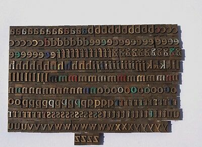 LOWERCASE LETTERS BRASS or BRONZE PRINTING BLOCKS TYPE PLATES  - MASSEELEY ?