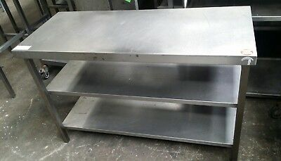 STAINLESS STEEL Prep Bench Table Work Surface Grill Microwave Shelf - Large stainless steel work table