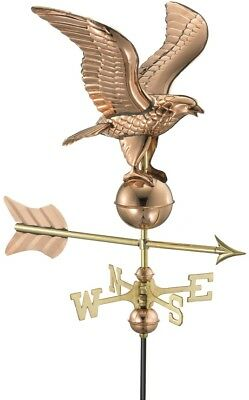 Good Directions Roof-Mount Eagle Weathervane Outdoor Garden in Polished Copper