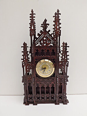 Fretwork Cathedral Mantle Clock