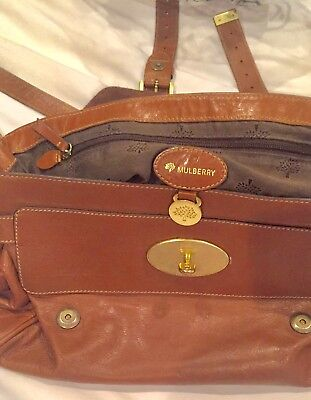 Mulberry oversized Alexa soft buffalo satchel in Oak 100% Authentic w  strap 1dda938df3b01