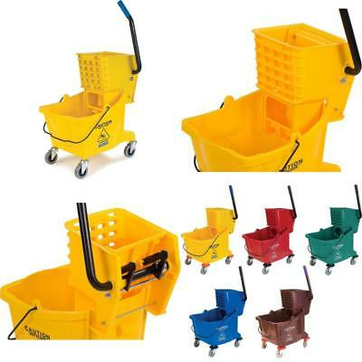 Carlisle 3690804 Commercial Mop Bucket With Side Press Wringer 26 Quart Capacity