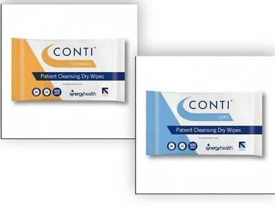 Conti Patient Cleaning Wipes Standard or Soft & Large 100s Saver Qtys 1 5 10 32