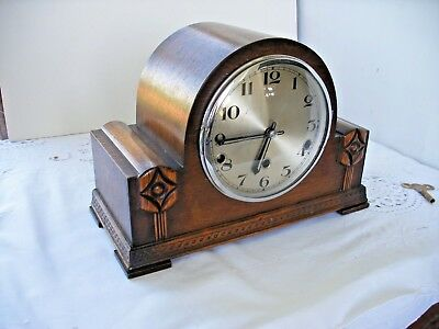 Lovely 1937 Mantle clock by Norland westminster 1/4 hour chime silent mode