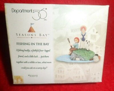 """Dept 56 Seasons Bay """"fishing In The Bay"""" - 1Pc - #53313 - New/sealed Box Nos"""