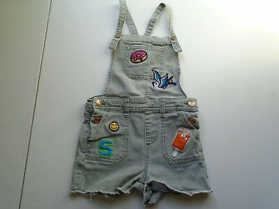 CAT&JACK Girls size SMALL 5-6 Cute Green Denim OVERALL Shorts
