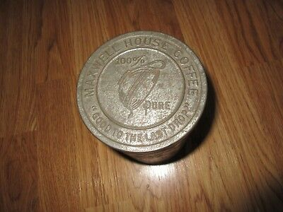 """Vintage Maxwell House Coffee Can Tin """"good To The Last Drop"""" 100% Pure"""