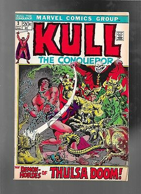 Kull The Conqueror 3 1972 Marie & John Severin fine 6.0  NO STOCK PHOTO