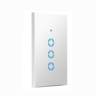 WIFI Light Switch Smart In-wall Voice Control Touch Control and APP Remote W8H5