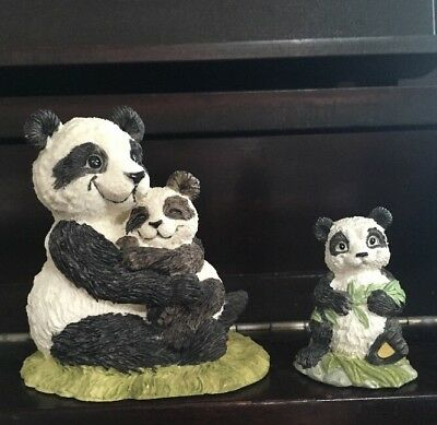 VTG Nature's Friends, Summit Collection, Panda Pair Figurines, mint condition