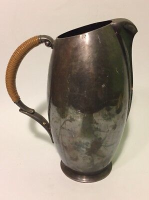Modern Mid Century Rogers Flair Silver Pitcher with Wrapped Handle