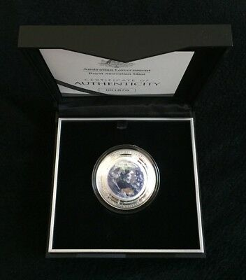 2018 $5 The Earth and Beyond : The Earth - Coloured Fine Silver Proof Domed Coin