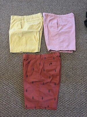 Lot Of 3 Pairs Men's Dress/casual Shorts - Size 36 - Izod, Hilfiger, Club Room