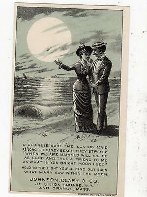 1880 Hold To The Light New Home Sewing Machines*donaldson Bros Litho*beach Scene