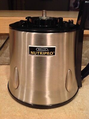 BELLA NutriPro Cold Press Juicer REPLACEMENT BASE BAJE5616 Stainless Steel