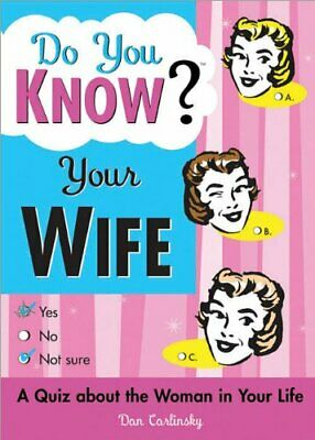 Do You Know Your Wife? by Dan Carlinsky Paperback Book The Cheap Fast Free Post