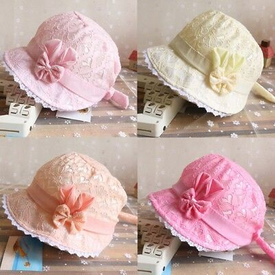 Newborn Infant Beach Bucket Hat Baby Girl Sun Summer Tire Cap Lace Bonnet Hat