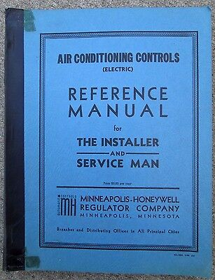 Vintage 1950 Air Conditioning Controls Reference Manual For Installer/ Honeywell