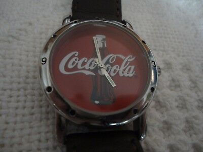 2003 Coca-Cola Mens Wrist Watch #F17313-1/F, Needs a Battery EC
