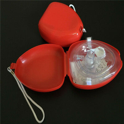 New Cpr Mask Box One-way Breath Reusable Mouth Guard First Supplies Face Aid