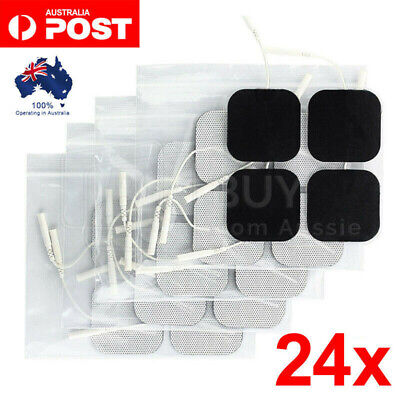 24pcs TENS Unit Electrode Pads Replacement for TENS EMS Massage Self-Adhesive