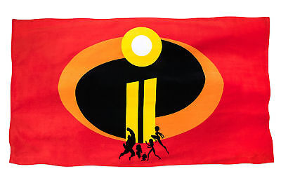 "Disney Store Pixar The Incredibles 2 Parr Family Logo Large Beach Towel 40""X70"""