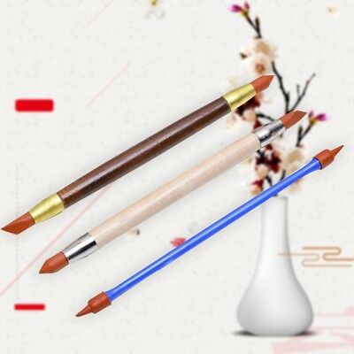3X Silicon Shaper Pen Pottery Clay Sculpture Tools Carving Modeling Shaping Tool