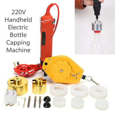 220V Handheld Electric Bottle Capping Caps Sealer Sealing Capper Machine 10-50mm