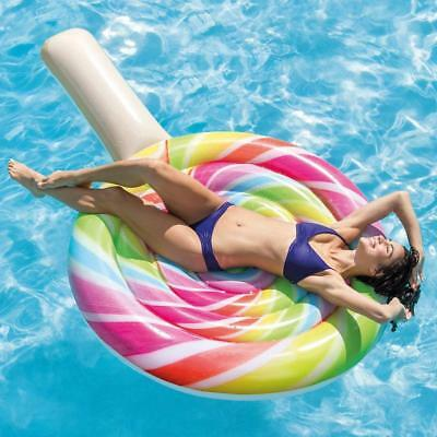 Intex Large Lollipop Inflatable Sun Lounger Swimming Pool Float Air-bed Matress
