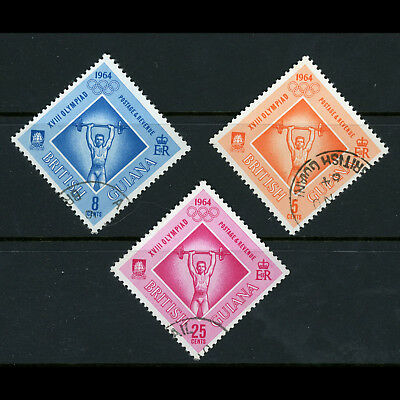BRITISH GUIANA 1964 Olympic Games. SG 367-369. Fine Used. (AW581)