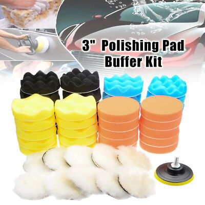6-51X 3''Inch Buffing Pad Kit For Auto Car Wheel Polishing CarHand Buffer Set