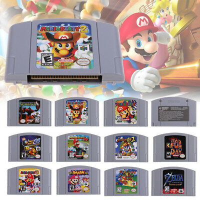 For Nintendo 64 N64 Mario Smash Bros Mario Party Game Cartridge Console AU Card