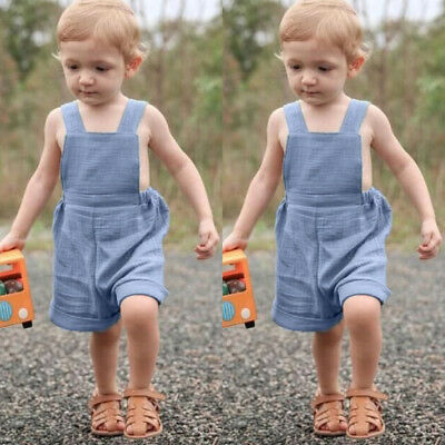 AU Canis Toddler Baby Boy Girl Bib Pants Romper Jumpsuit Playsuit Sunsuit Outfit