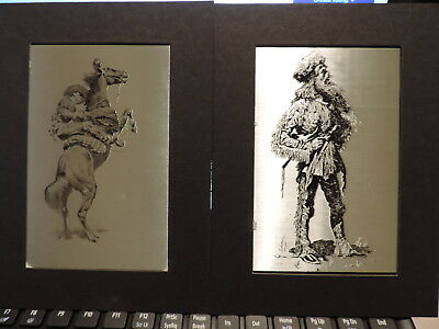 Lot of 12 Frederic Remington Western Art Etchings by Otto Wills of Louisiana MO