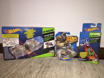 Set HOT WHEELS: Booster 2 velocità + veicolo Tusken Raider + Lanciatore Laterale