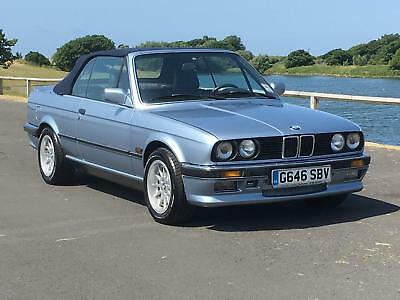 1990 BMW 3 SERIES E30 320i CONVERTIBLE / CABRIOLET * LHD LEFT HAND DRIVE * BLUE