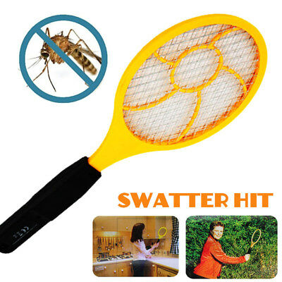 Electric Tennis Racket Flyswatter SS17 Trap Control Pest Repeller Practical