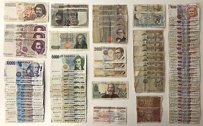 85 x Mixed Banknote Collection - Italy - Europe. ***Bulk Lot***  (1980)