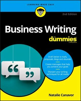 Business Writing For Dummies by Natalie Canavor (Paperback, 2017)