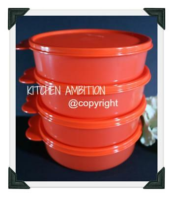 New TUPPERWARE Set of 4 Big Wonders Cereal Bowls 2+ Cups Microwave Reheat Safe