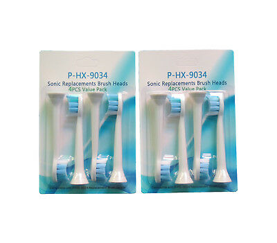 8pcs Sonic Replacement Brush Heads P-HX-9034 For Philips Sonicare