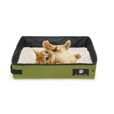 Portable Pet Litter Box By Travel Collapsible Toilet Tray For Cats, Kittens