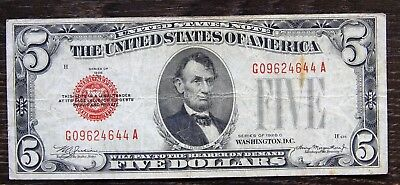 USA,5 Dollars Banknote 1928,rar