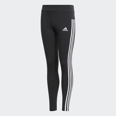 Leggins Adidas Tight Essentials 3-Stripes, Nero / Bianco, Ginnastica, Bambina
