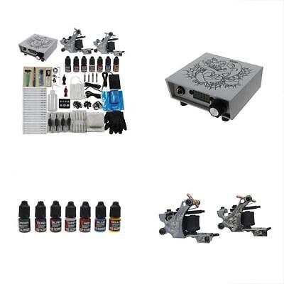 Complete Tattoo Kits Machine Gun Digital Power Supply Color Inks For Starter