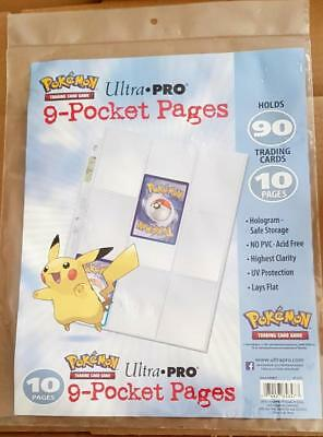 Ultra Pro 9 - Pocket - Pages für Tradingcards Game Pokemon, Yugioh , Match Attax