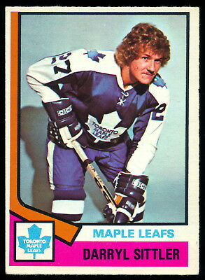 1974 75 O Pee Chee Opc #40 Darryl Sittler Ex-Nm Toronto Maple Leafs Hockey Card