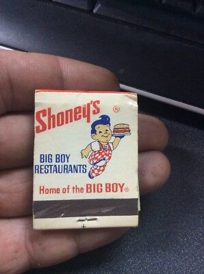 Vintage Bog Boy Shoney's Restourant Matches