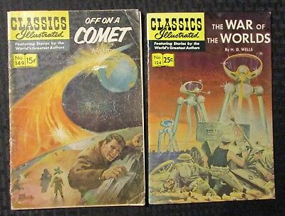 Classics Illustrated 149 Off on a Comet #6 VG 4.5 1966 Stock Image Low Grade