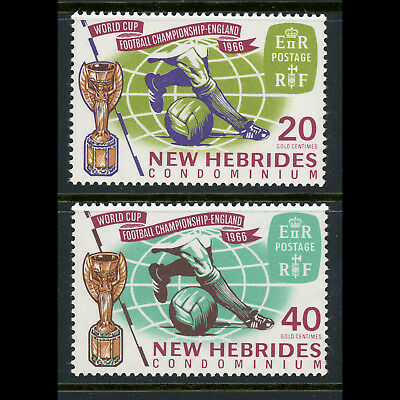 NEW HEBRIDES 1966 World Cup. SG 118-119. Mint Never Hinged. (AT676)